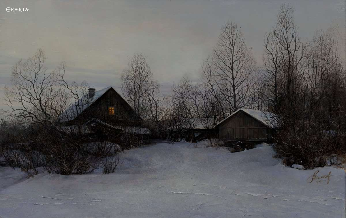 Winter Evening, artist Andrey Mamaev