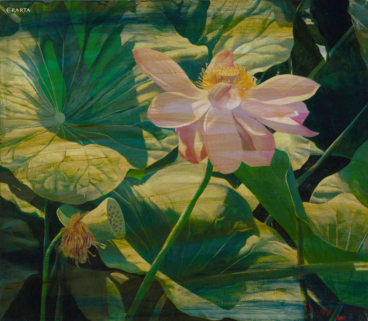 Painting Lotus Flower Artist Igor Kulik Buy Reproduction