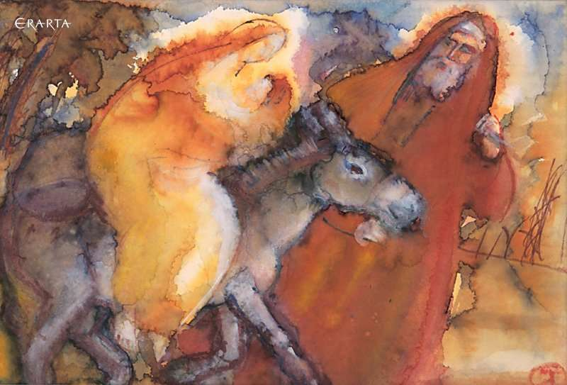 The Flight  into Egypt, artist Tatiana Leonova