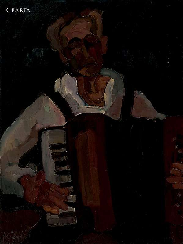 Accordion Player , artist Andrey Neganov
